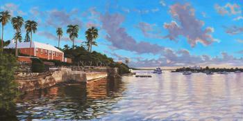 Sunset-over-darrel's-wharf - Lisa Rego
