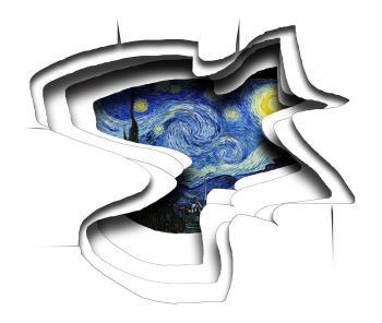 Starry night worm hole - Nadia Mierau