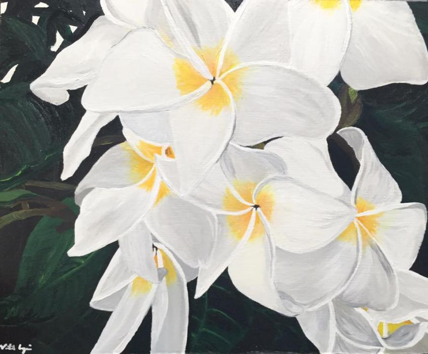 White Plumerias - Original Paintings