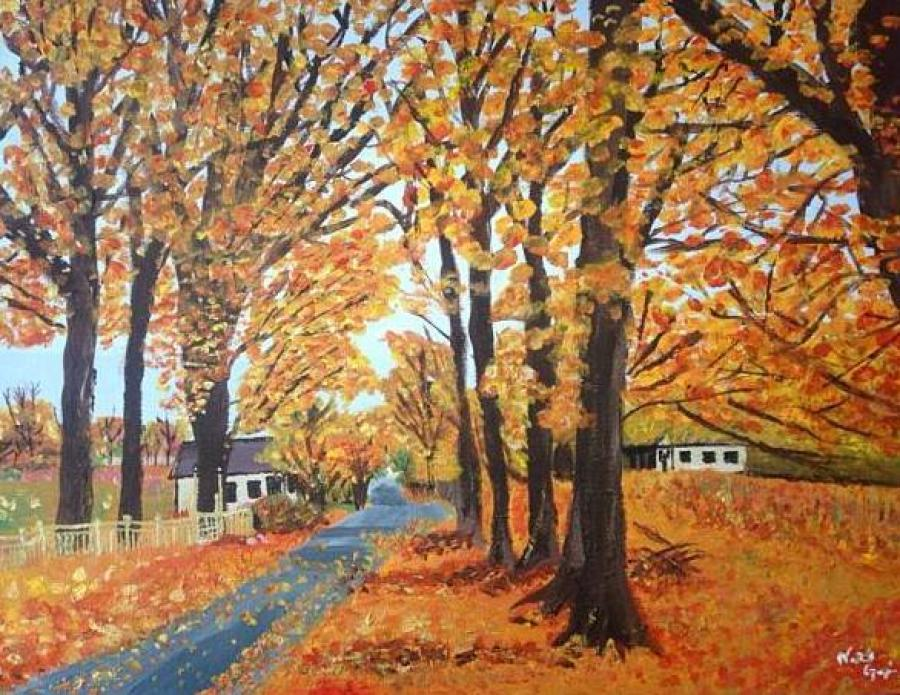 Autumn in Old Brookville - Original Paintings
