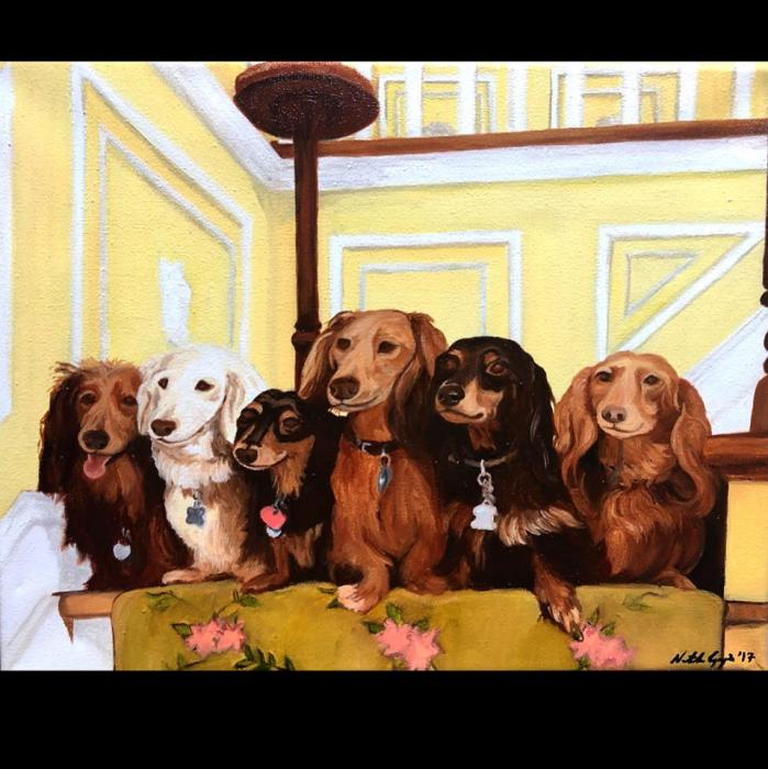 Dachshunds - Original Paintings