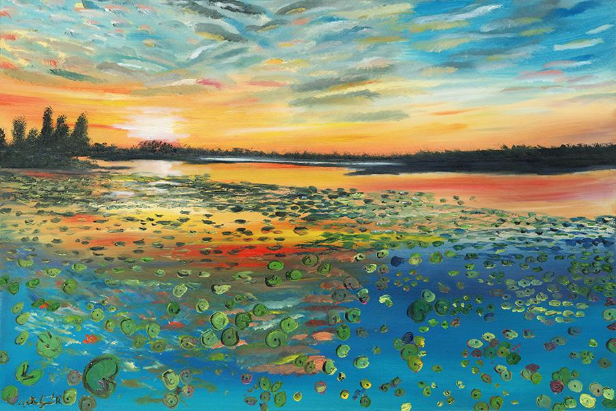 Crazy Lilly Pads - Original Paintings