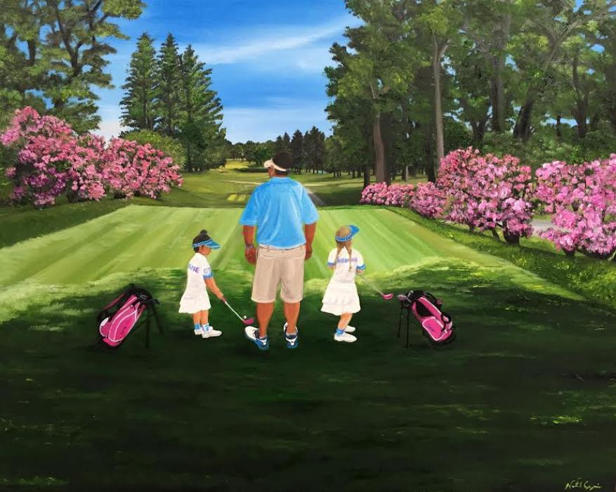 Daddy`s Girls - Original Paintings