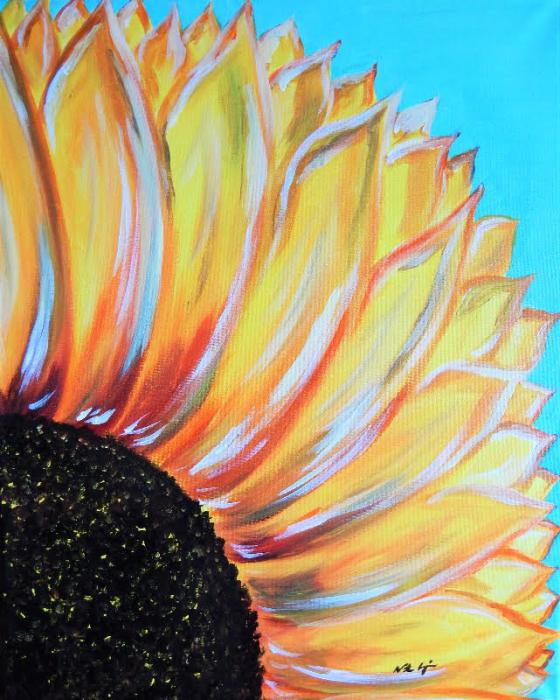 Funky Sunflower - Original Paintings