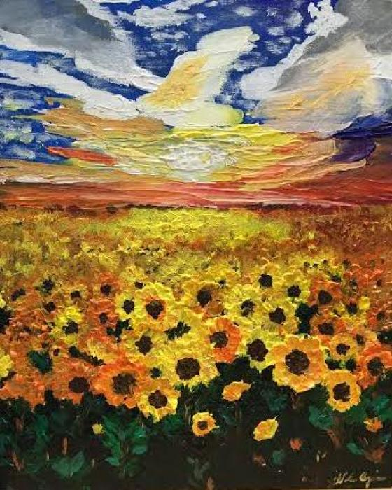 Sunflower Dreaming - Original Paintings