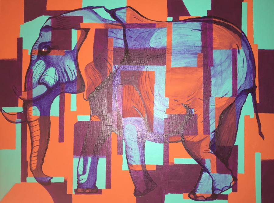 Elephant (SOLD-prints available). <p><span style=`font-size: small;`><strong>Contact artist directly for additional pricing options.</strong></span></p>
