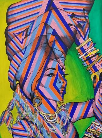 Beauty in Blackness (SOLD-prints available) - Nichelle Rivers