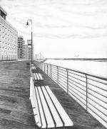 "Long Beach Boardwalk ""Have a seat"""
