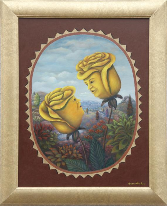 "Mr.and Mrs. Yellowrose (22""x28"") Oil on Canvas - Alix Pierre"