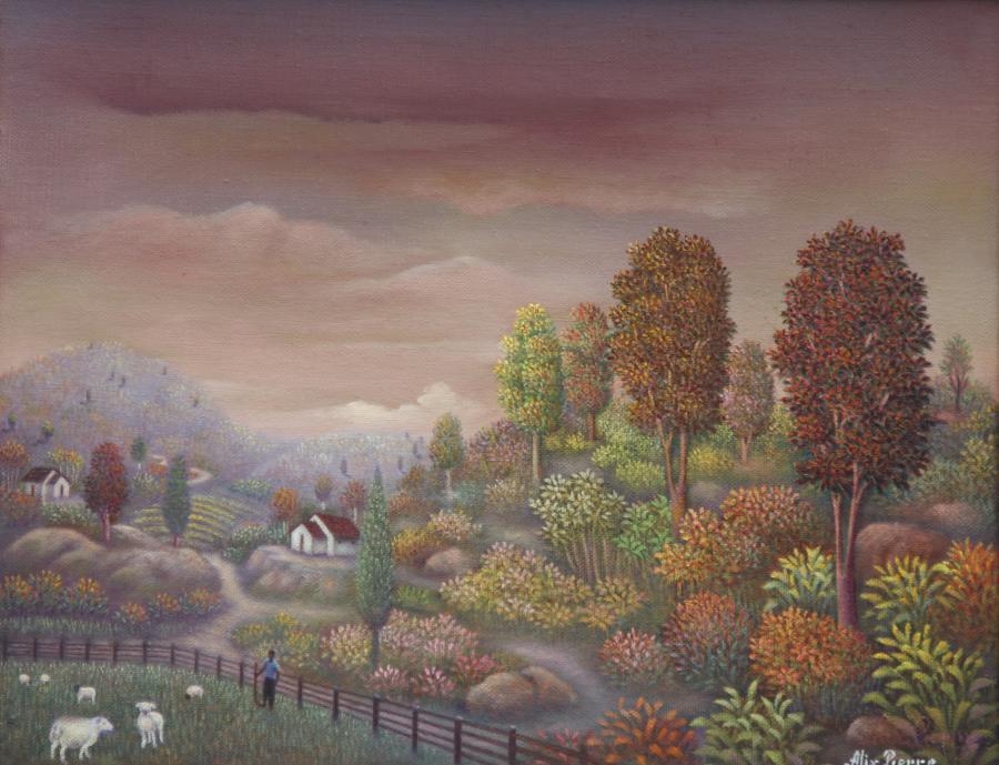 """Little Shepherd (11""""x14"""") Oil on Canvas - Alix Pierre"""