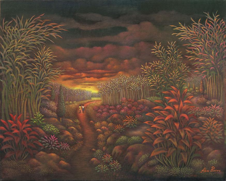"Romantic Atmosphere (16""x20"") Oil on Canvas - Alix Pierre"