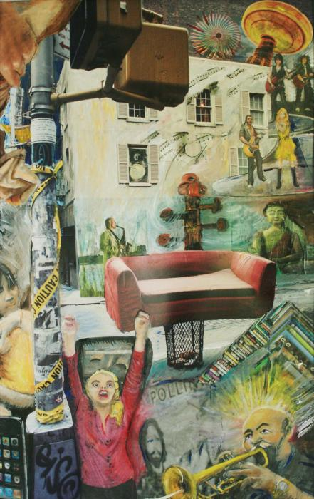 Urban Rhythms, 2009, a collage - Katherine Criss's work