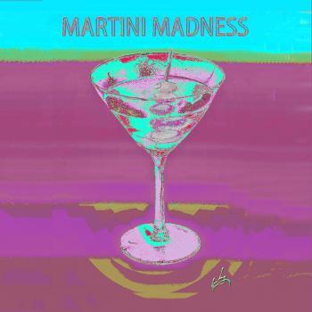 1martini Madness Bluepillow Napkin - H. Scott Cushing