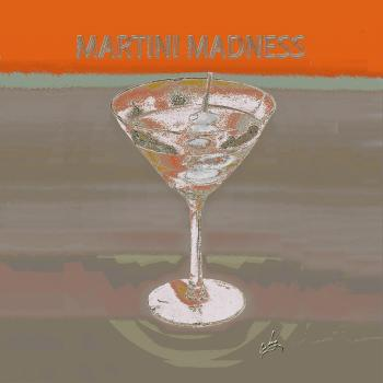 1martini Madness Orange Napkin Pillow - H. Scott Cushing
