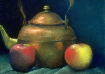 Tea Kettle With Apples - Paula Gach Moskowitz