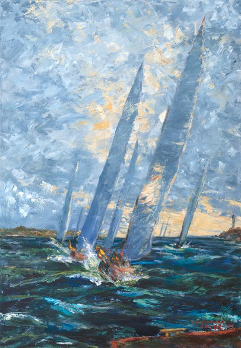 Sail. Sail / Original Sold, Giclee Available / 18 x 26 inches , $450 / 9.5 x 14 inches, $315