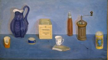 Still Life with Blue Jug, 1980 - ODNORALOV MIKHAIL / МИХАИЛ ОДНОРАЛОВ