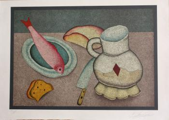Still Life with Fish and Bread - CHEMIAKIN MIHAIL / ШЕМЯКИН МИХАИЛ