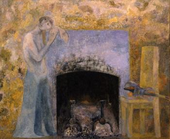 The Girl by the Fireplace. 1977 - MESHBERG LEV / ЛЕВ МЕЖБЕРГ