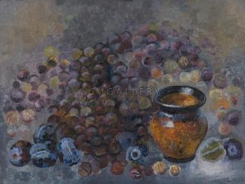 Still Life with Grapes and Plums,2003 - MESHBERG LEV / ЛЕВ МЕЖБЕРГ