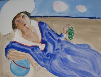 IL Mondo (Woman on sand), 2006 - KHAMDAMOV RUSTAM / РУСТАМ ХАМДАМОВ