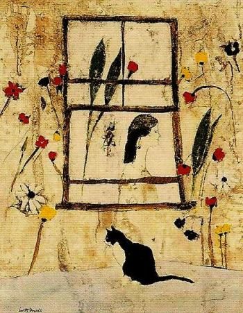 Cat By Window - LEO McDOWELL