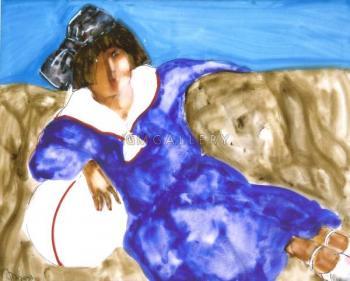 Girl on sofa II, 2007 - KHAMDAMOV RUSTAM / РУСТАМ ХАМДАМОВ