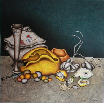 Nocturne in Grey & Gold, 1998 - CHEMIAKIN MIHAIL / ШЕМЯКИН МИХАИЛ