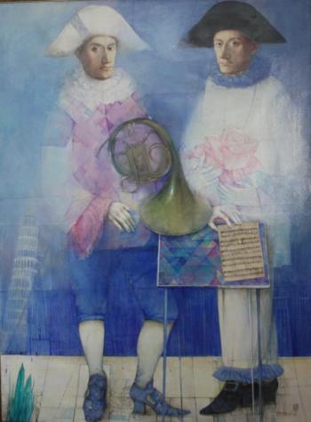 Still Life with French Horn, 2003 - MINNIBAEVA OLGA / ОЛЬГА МИННИБАЕВА