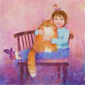 Girl with a Cat, 2007 - MINNIBAEVA OLGA / ОЛЬГА МИННИБАЕВА