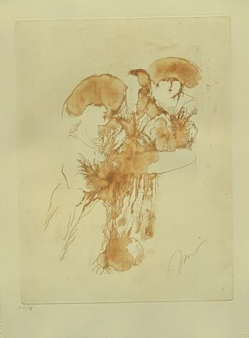 Etching on paper