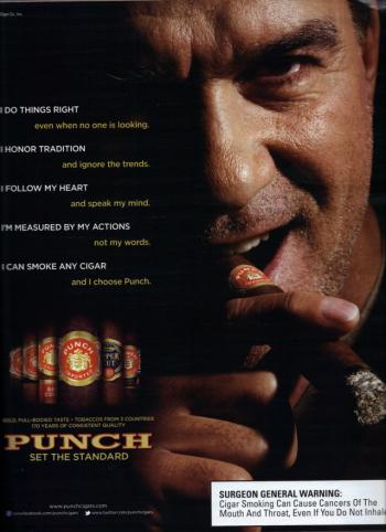 Punch Magazine ad in Cigar Aficianado - photos of Dennis Gagomiros