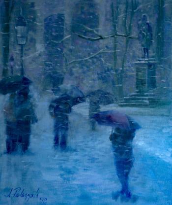 Central Park in Winter - Joseph Palazzolo