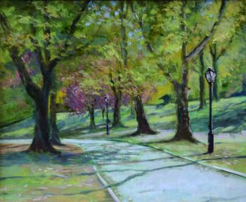 Central Park Path, Late Summer - Joseph Palazzolo