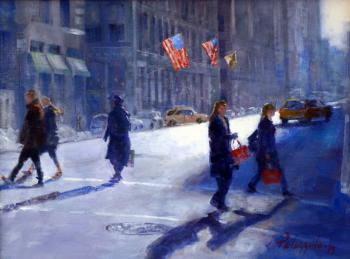 Late Fall Sunlight, Lower Broadway, NYC - Joseph Palazzolo