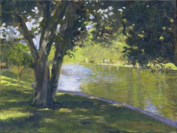 Pond at East Hampton - Joseph Palazzolo