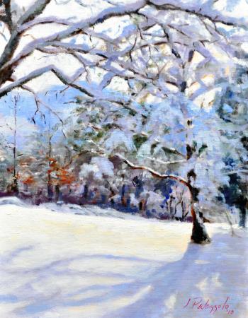 Snowfall, Shelter Rock Road - Joseph Palazzolo