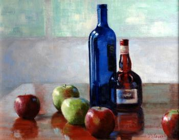 Still Life With Blue Bottle - Joseph Palazzolo