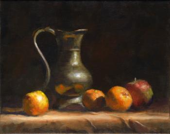 Still Life with Decanter and Fruit - Joseph Palazzolo