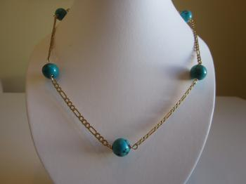 Turquoise Station Necklace - Vintage Creations
