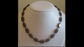 Custom Bezel-Set Labradorite Necklace - Sold Items