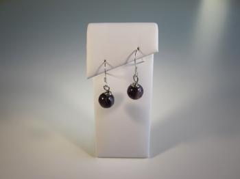 Charoite Bead Earrings - Earrings