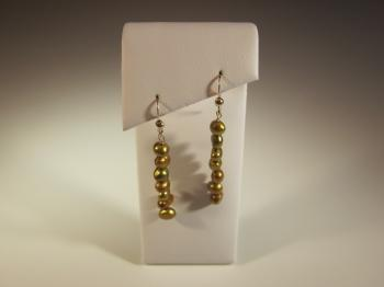 Deep Bronze Pearl Earrings - Earrings
