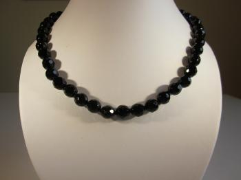 Antique Victorian Black Glass Bead Necklace - Sold Items