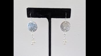 Sterling Silver Freshwater Pearl Dangle Earrings - Sold Items
