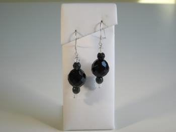 Black Onyx Drop Earrings - Earrings