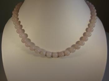 Rose Quartz Beaded Necklace - Necklaces
