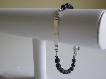 Lapis Lazuli ID Bracelet - Bracelets