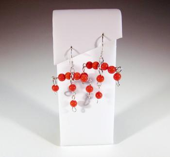 "Orange Coral ""Katya"" Earrings - Earrings"