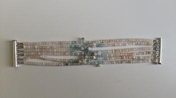 Six-strand Morganite Bracelet - Sold Items